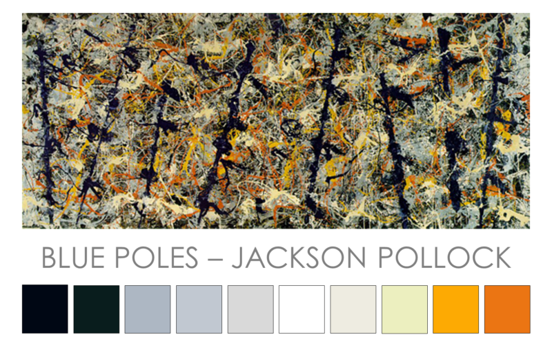 Pollock Blue Poles Zena O'Connor
